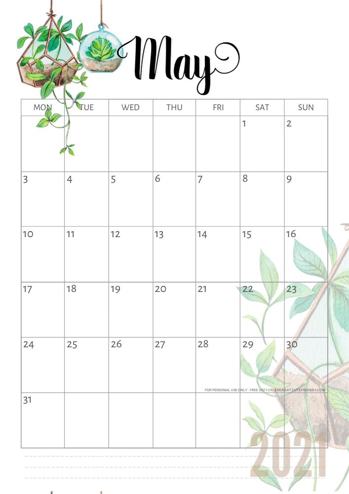 may-2021-calendar-plants - Cute Freebies For You