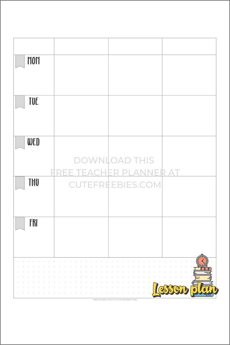 picture relating to Lesson Planner Printable called LESSON-PLANNER-PRINTABLE-2 - Adorable Freebies For Your self