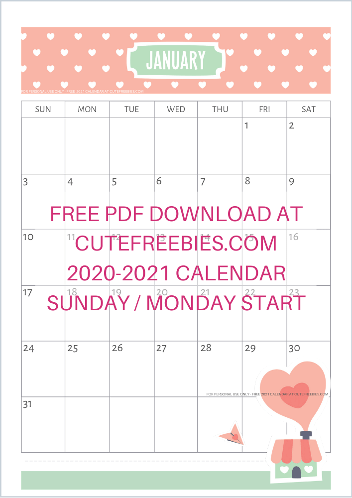 A4-2021-SUNDAY-CALENDAR-CUTELOVE-2 - Cute Freebies For You
