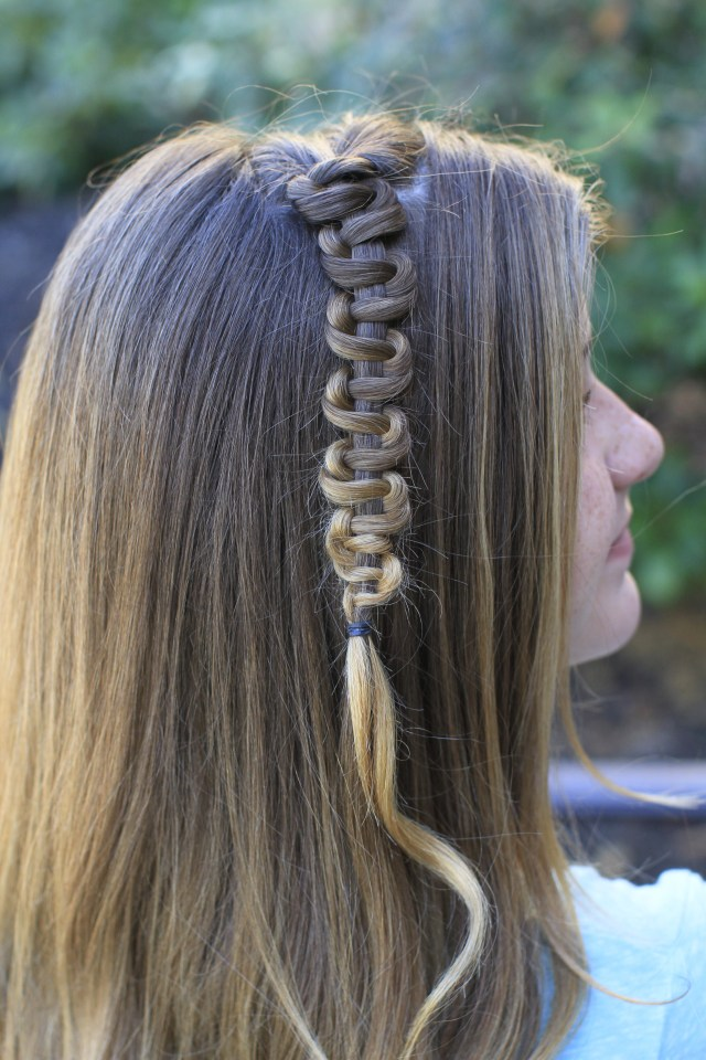 teen slide-up braid | st. patrick's day hairstyle | cute