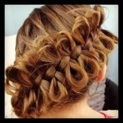 diagonal bow braid cute braided