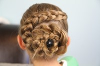 Dutch Flower Braid | Updo Hairstyles | Cute Girls Hairstyles