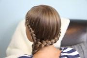 double lace side braid rihanna