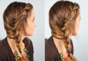 subtle twist side braid
