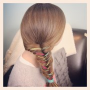 yarn extension fishtail braid