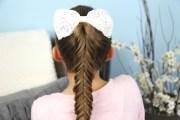 reverse fishtail braid cute