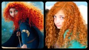 merida's hair -heat straw curls