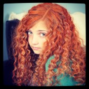 merida's fiery and curly red
