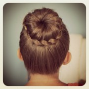 lace braided bun cute updo hairstyles