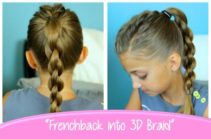 single frenchback into round braid | back-to-school