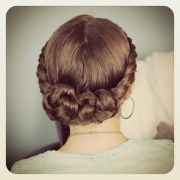 double-twist bun updo homecoming