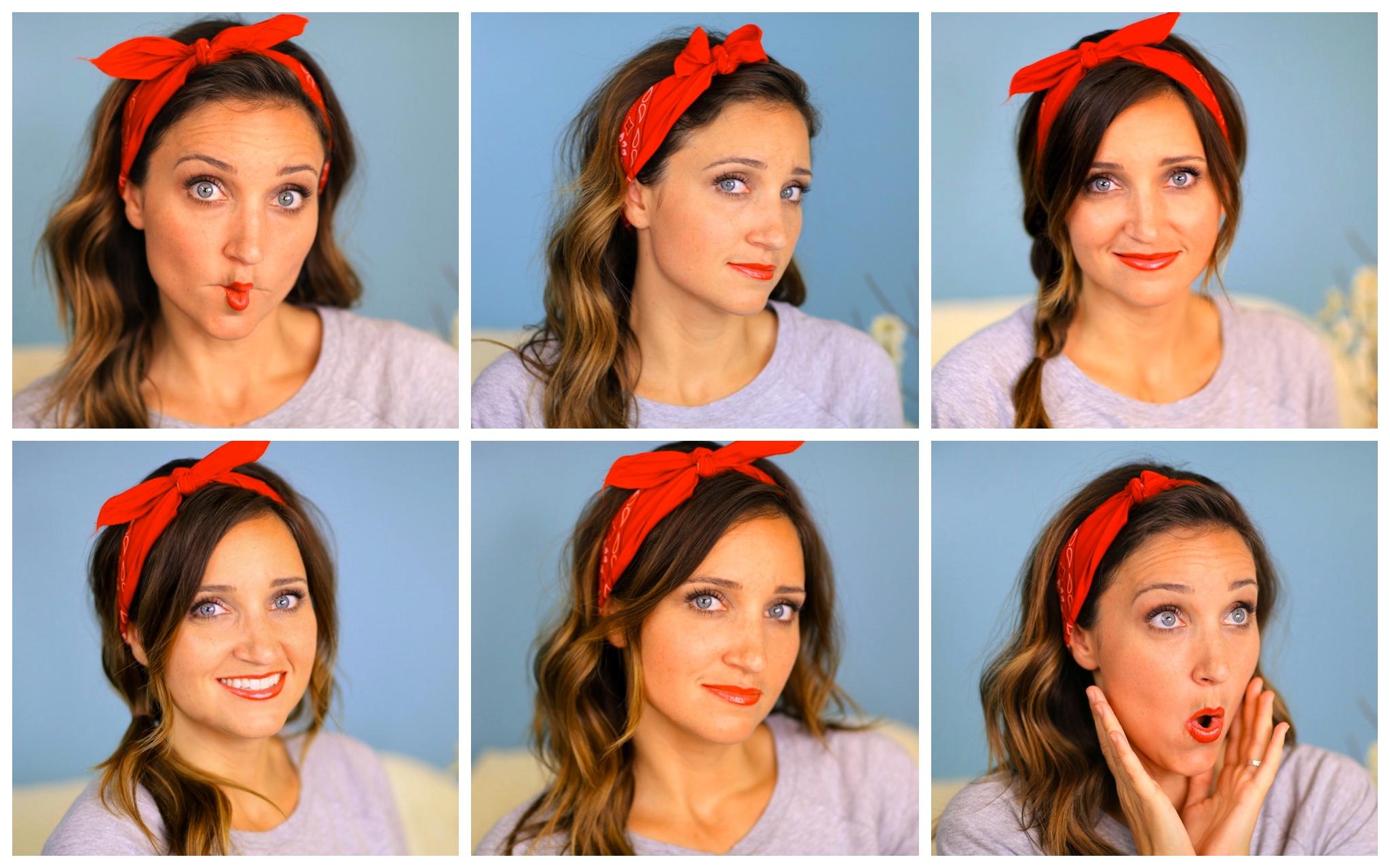 Six DIY 1 Minute Bandana Hairstyles