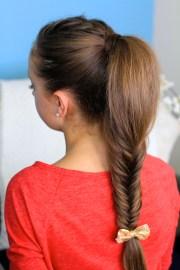 fluffy fishtail braid hairstyles