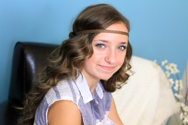headband twist | half-up half down hairstyles | cute girls
