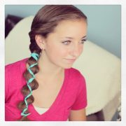 ribbon-accented loony braid hairstyle
