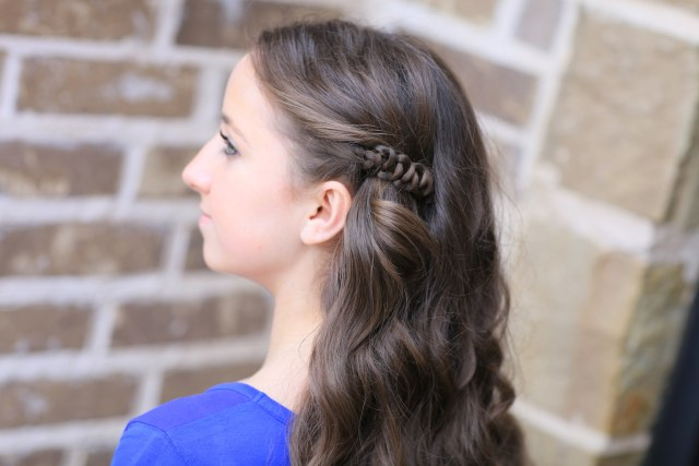 how to create a sides-up slide-up hairstyle | cute girls