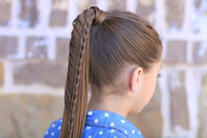 lace braided ponytail and updo | cute hairstyles | cute