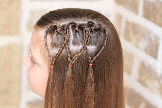 triple braided hearts | valentine's day hairstyles | cute