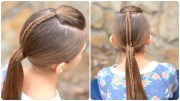 fishtail-accented ponytail hairstyles