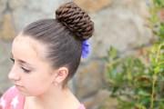 rope-twist pinwheel bun prom