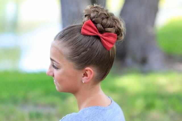 pancaked bun of braids | updo hairstyles | cute girls hairstyles