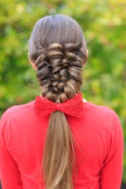 create banded puff braid