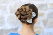 rope twisted bun hairstyles