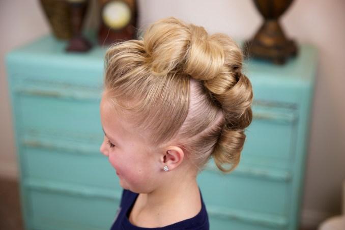 flower bun hawk | hairstyles for dance | cute girls hairstyles