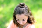 diy - bun cute girls hairstyles