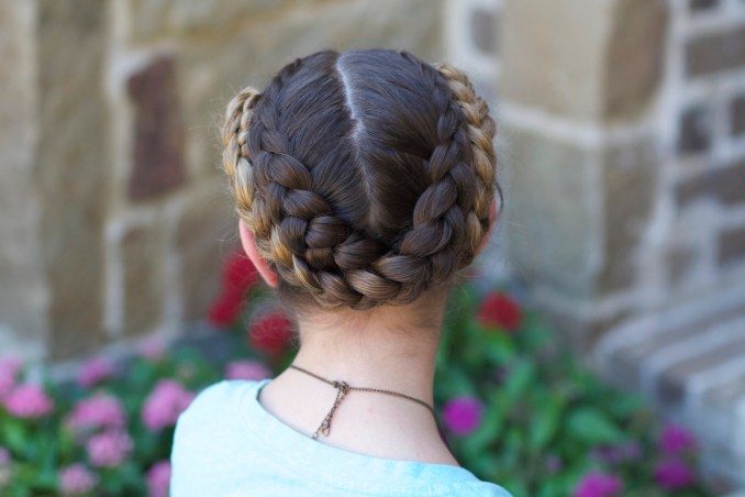 easy fold-up braids | back-to-school hairstyles | cute girls