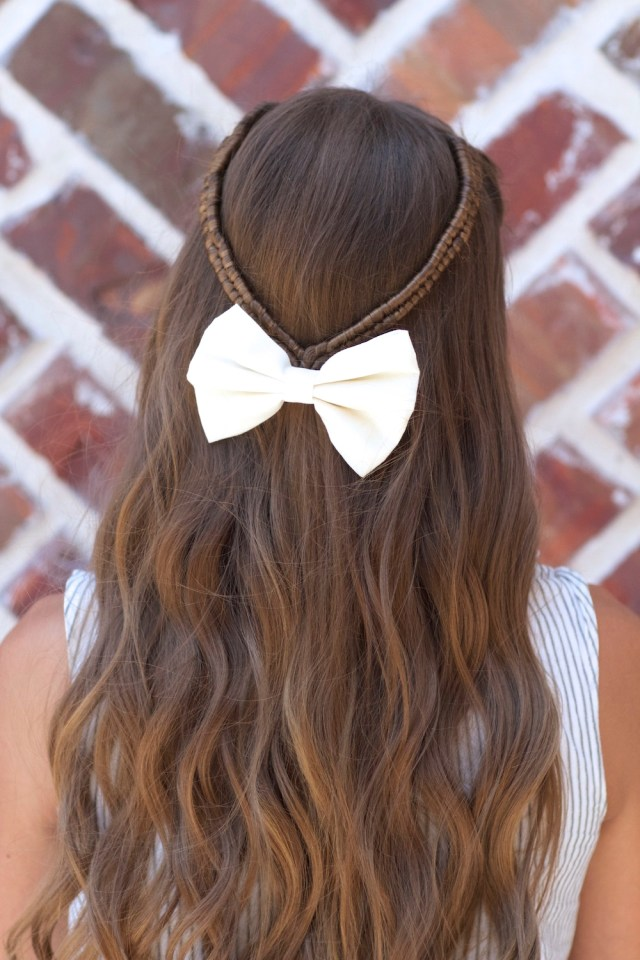 infinity braid tieback | back-to-school hairstyles | cute