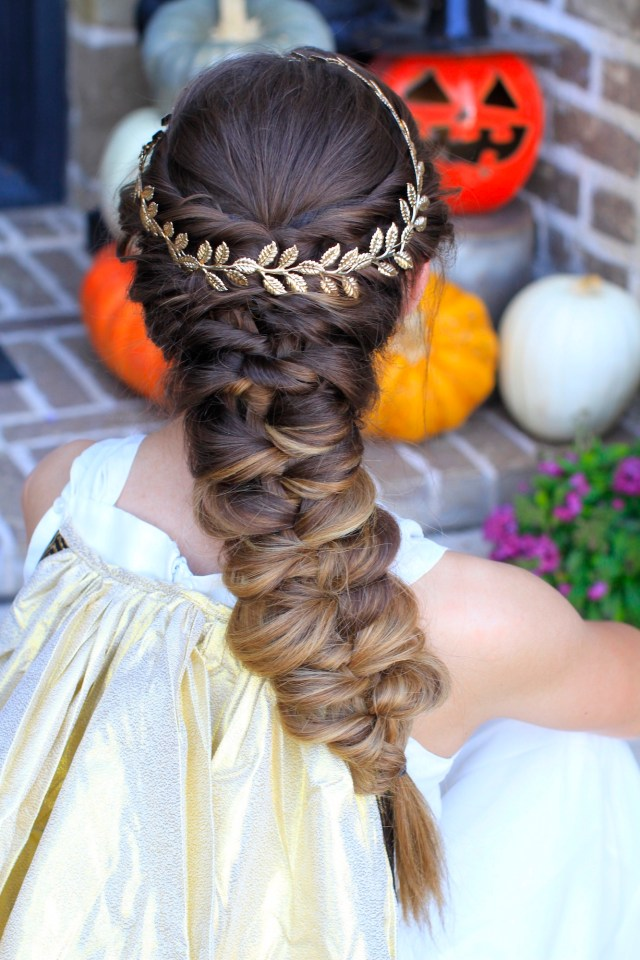 twist faux braid | halloween hairstyles | cute girls hairstyles