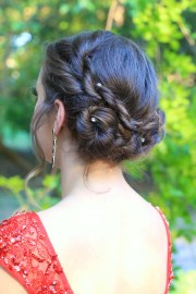 rope twist updo homecoming hairstyles