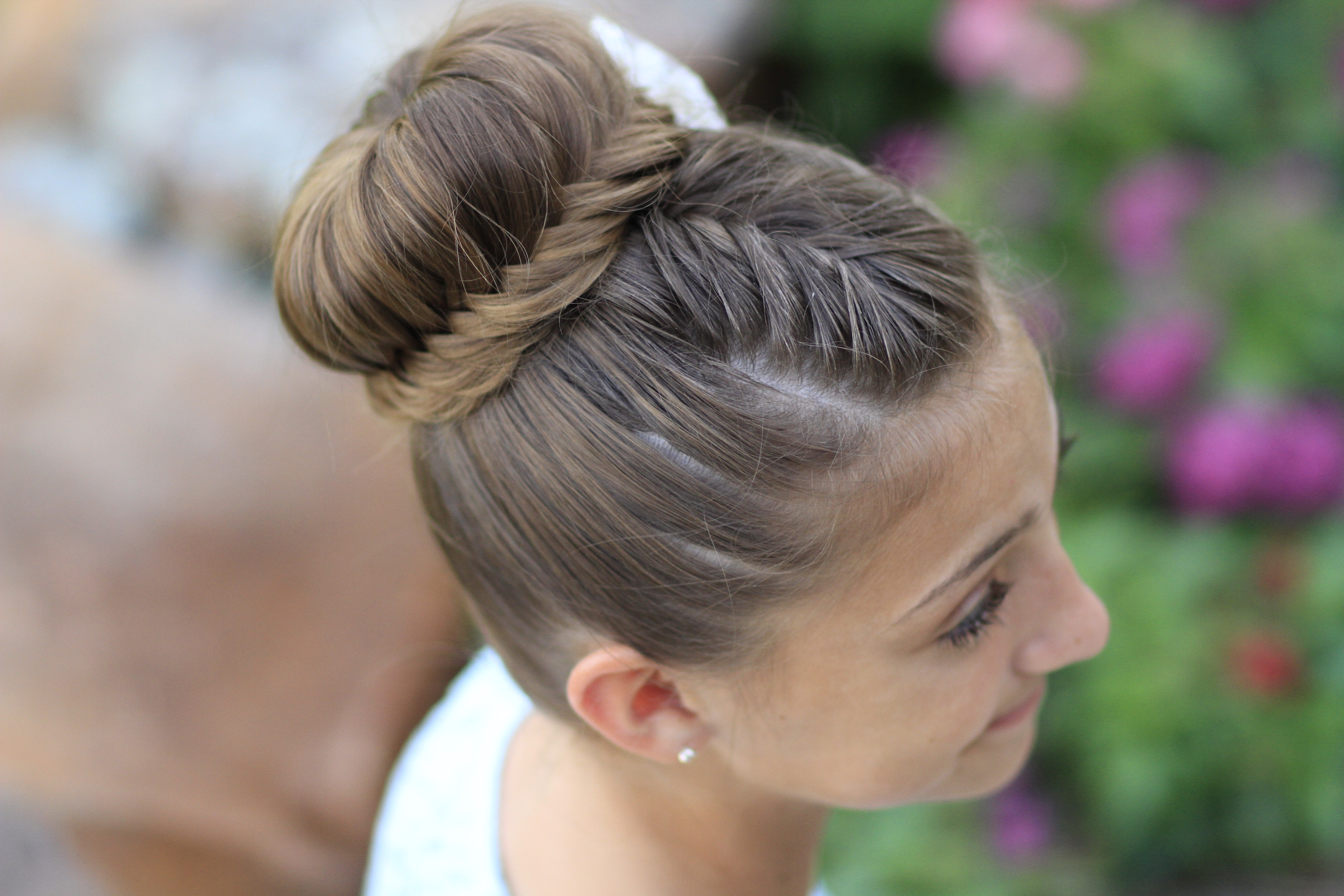 How to Create a Lace Fishtail Bun  Cute Girls Hairstyles