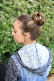 create crown bun cute