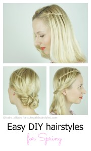 easy diy hairstyles spring