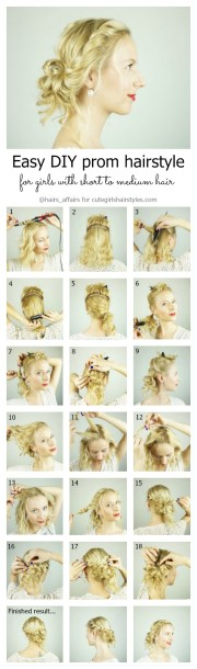 easy diy prom hairstyle girls