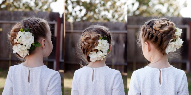 braids with flowers | cute girls hairstyles
