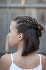 5 braids short hair cute