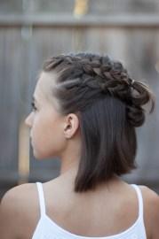 5 braids short hair cute