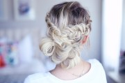 fancy fishtail updo cute girls