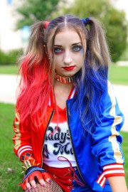 harley quinn pigtails cute girls