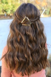 barrette tieback cute girls hairstyles
