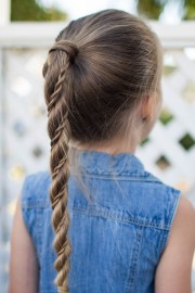 twist wrap ponytail cute girls
