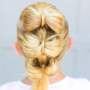 triple bow hawk cute girls hairstyles
