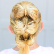 triple bow hawk cute girls hairstyles