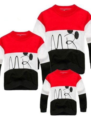 a36a9962 Family Look Cartoon T Shirts 2 Colors Spring Autumn Family Matching Clothes  Mother and Daughter Clothes Family T-shirt