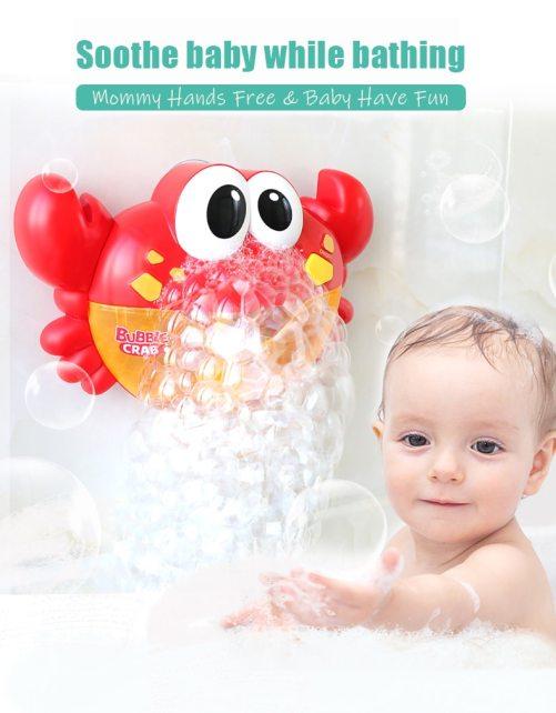 crab bubble bath toy