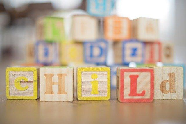 building blocks spelling child