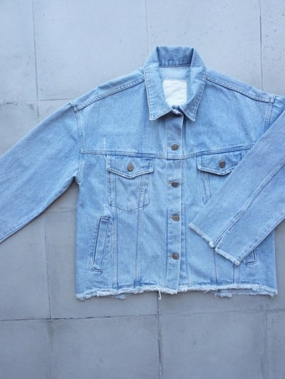 Light Basic Denim Jacket – S